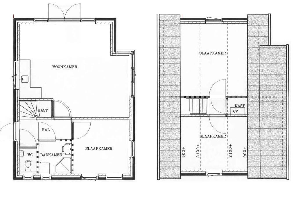 Indeling vakantiehuis prunella texel for Plattegrond woning indeling